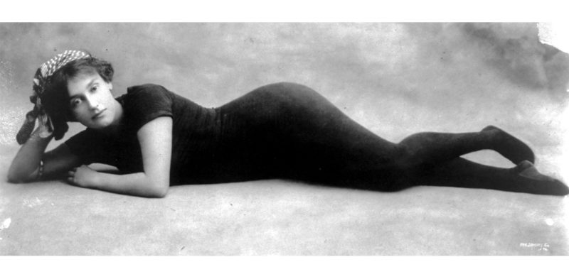 annette kellerman swimming suit recumbent