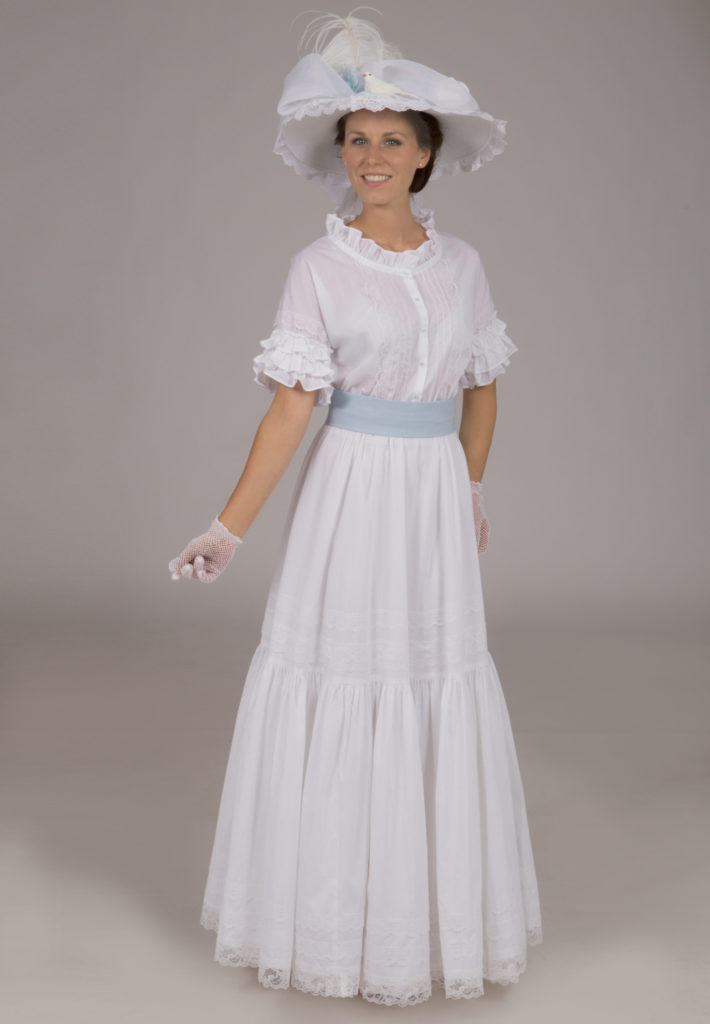 White Batiste Edwardian Dress