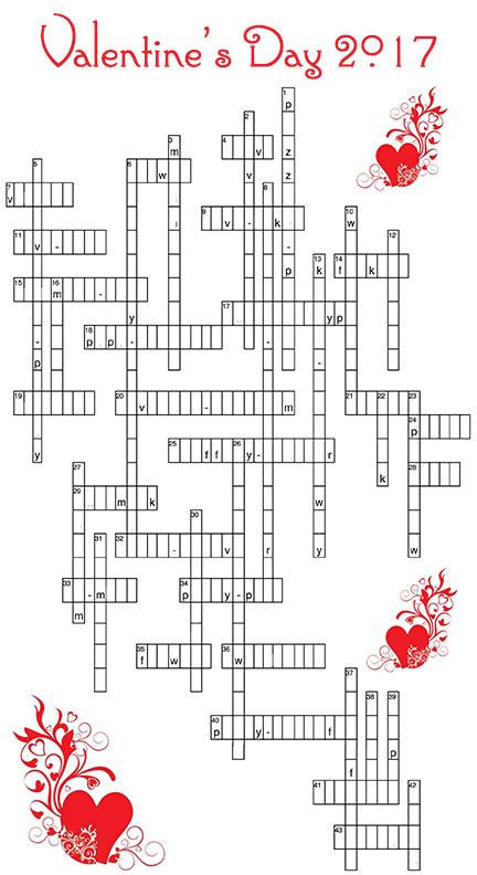 Valentine Crossword Game day 4 clues