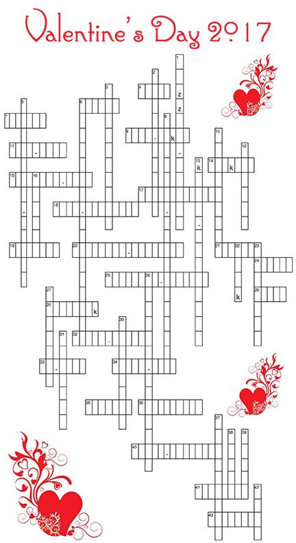 Valentine's Day 2017 Crossword Game k-z