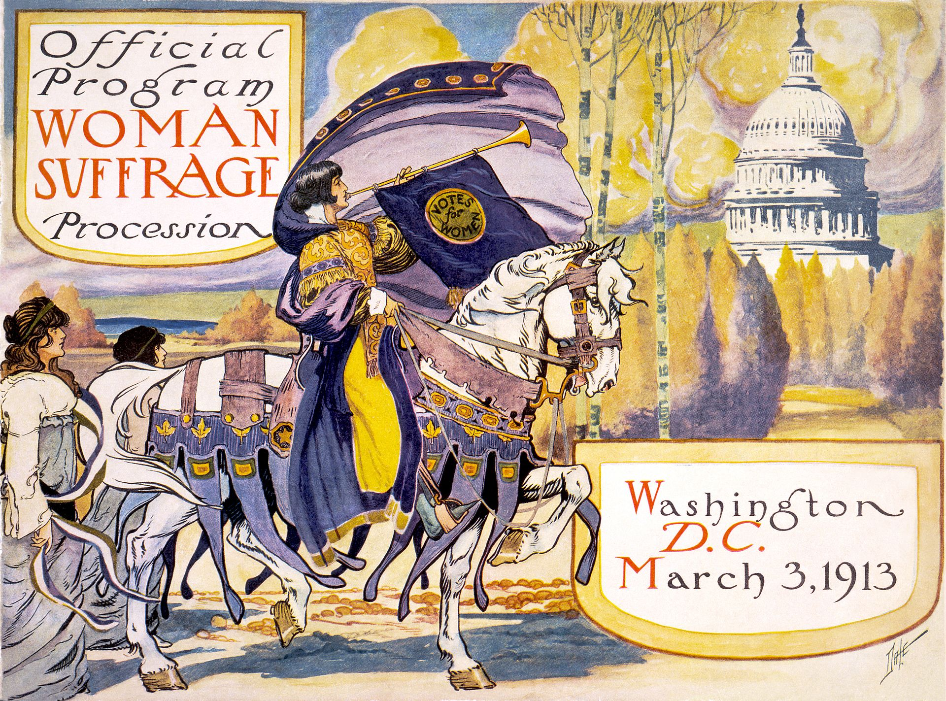 Official Program of the 1920s Washington DC Woman Suffrage procession