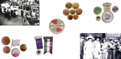 women's suffrage movement memorabilia