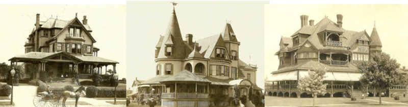 Vintage photos of Victorian homes Spring Lake New Jersey