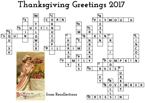 Thanksgiving crossword day 7 clues