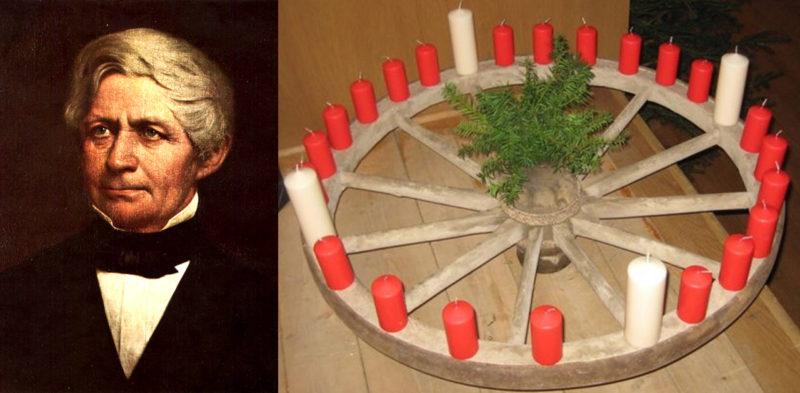 Johann Hinrich Wichern and Advent wreath