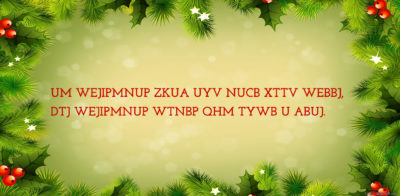 Christmas Cryptogram