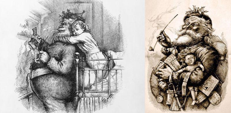 Thomas Nast Santa Claus illustrations