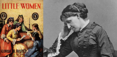 Little Women book cover and photo of author