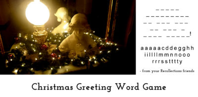 Christmas Greeting Word Game 2017