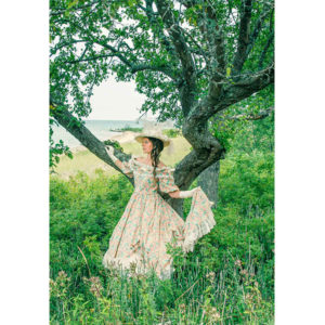 See product close up Victorian Civil War Styled Ball Gown at 40 Mile Point Lighthouse