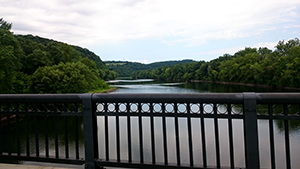 view from Riverton-Belvidere Bridge