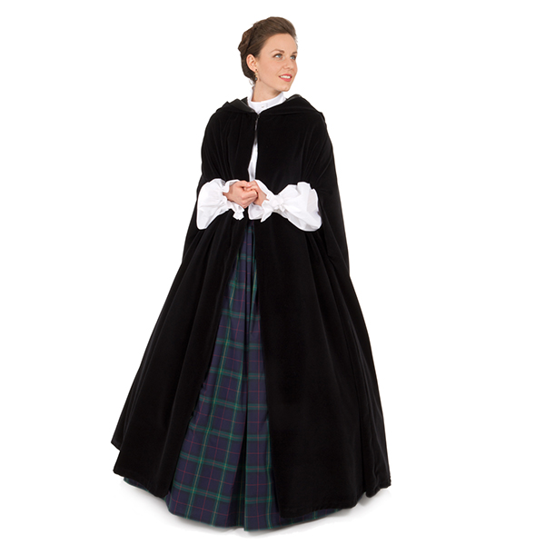 Victorian Velvet Cape perfect for a Dickens event