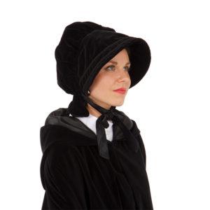 Dickens Victorian Velvet Bonnet for your Dickens event