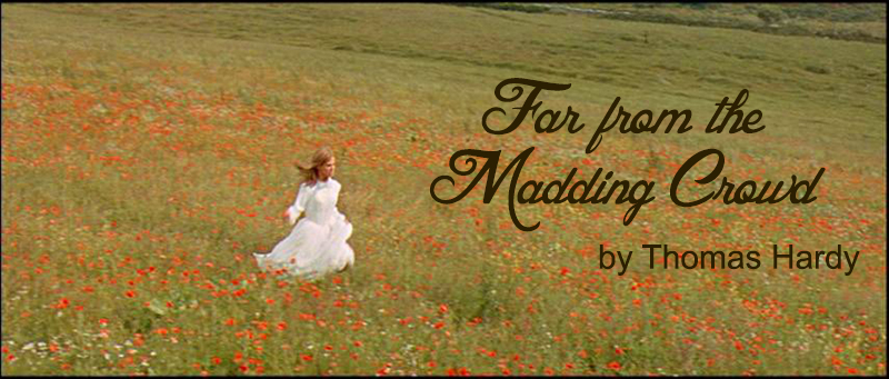 still from Far from the Madding Crowd 1967 - Julie Christie in a field of flowers