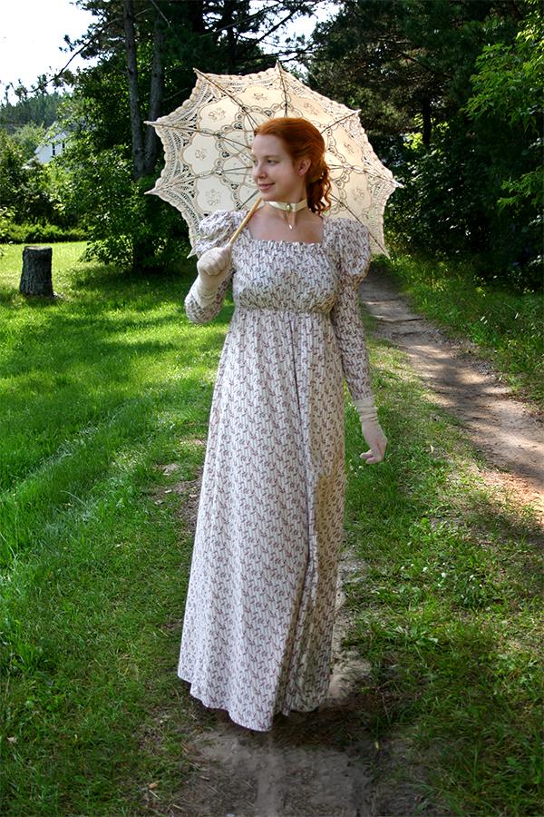 Mary Shelley - Regency fashion - Regency Gown