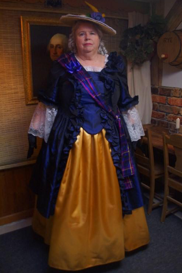 Halloween 2018 Photo Contest entry: Denise S. wearing our Revolutionary Ball Gown