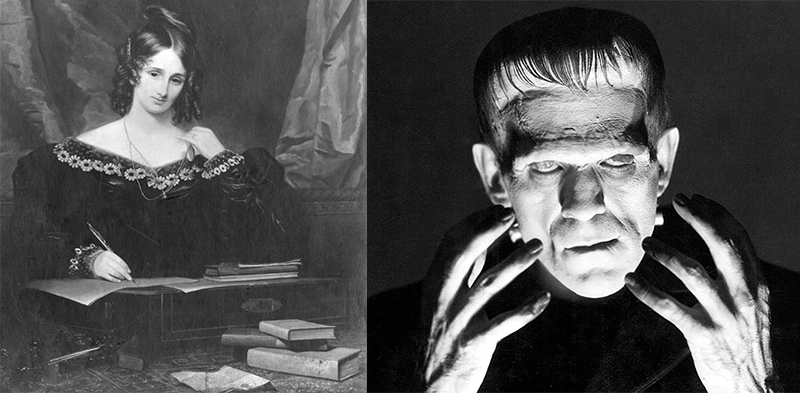 Mary Shelley and the monster