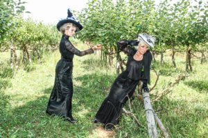 Halloween 2018 Caption This! Photo Contest - 2 classy witches in the apple orchard