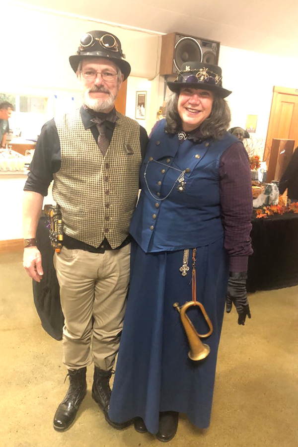Halloween 2018 Photo Contest - Randy and Melissa R. in steampunk attire