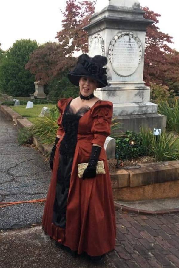 Susan B., Newnan wearing our Edwardian Ensemble