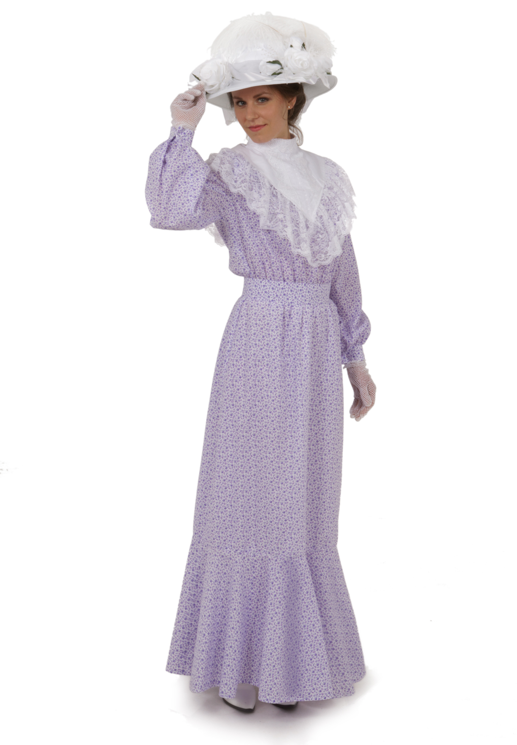 Elsie Edwardian Dress, Collar, Belt