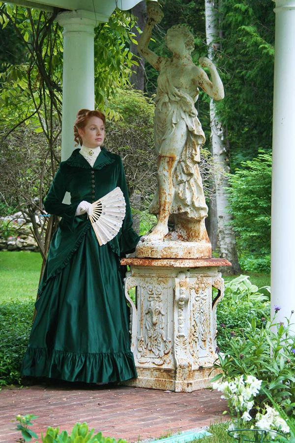 Victorian Velvet and Satin Polonaise
