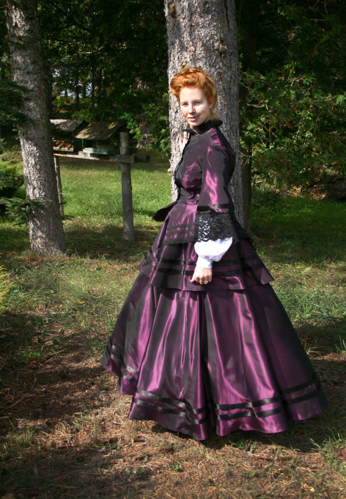 Victorian Civil War Jacket and Skirt Gown