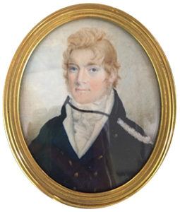 Portrait miniature by Sarah Biffin of William Pateshall, B.A