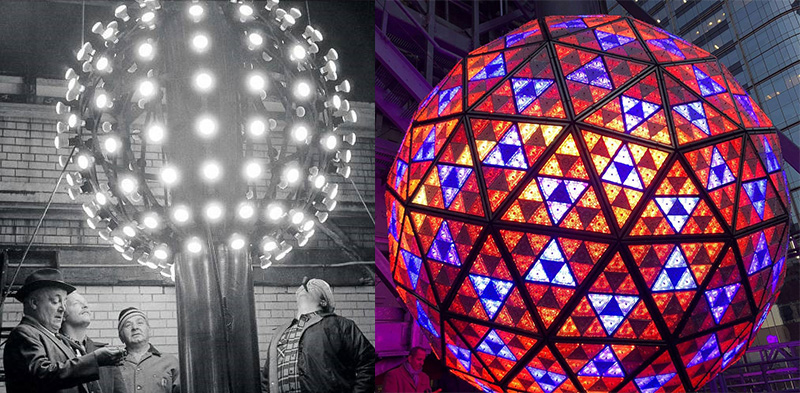 New Years Eve balls New York City