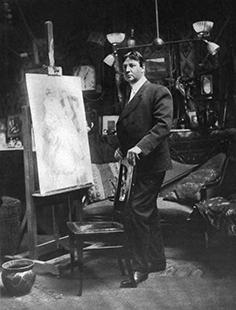 Harrison Fisher in his  studio