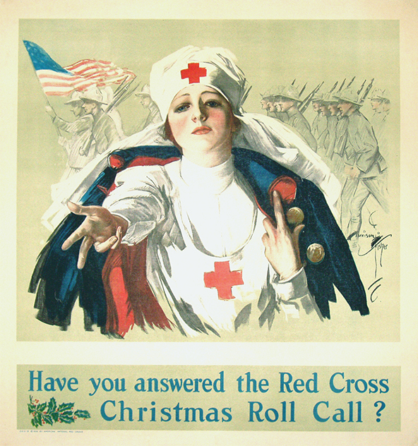 1917 Harrison Fisher Red Cross poster