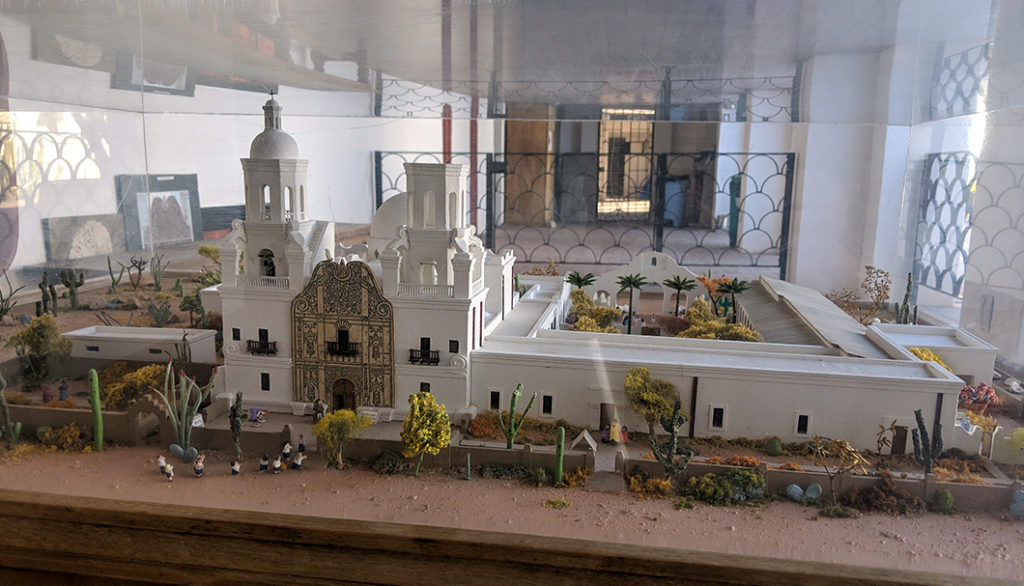 Model of the San Xavier Mission