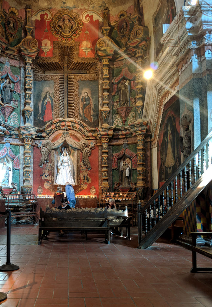 The East Transept of the San Xavier Mission Chapel