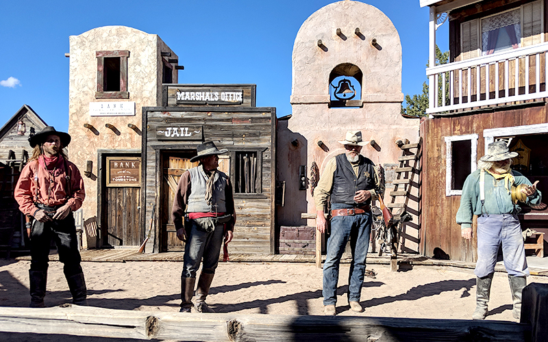 The cast of the Old Tombstone Wild West Show