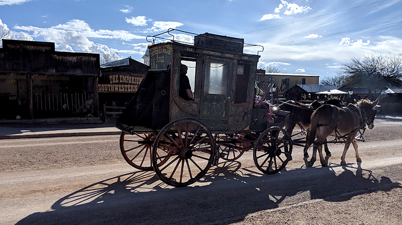 Stagecoach in downtown Tombstone