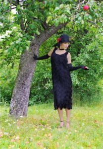 Coco Roaring 20's Black Fringe Flapper Dress