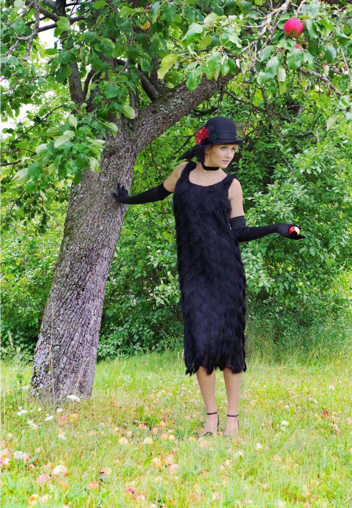 Coco Roaring 20's Black Fringe Flapper Dress