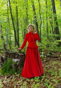 Mrs. Claus -Jacqueline Velvet Victorian Suit