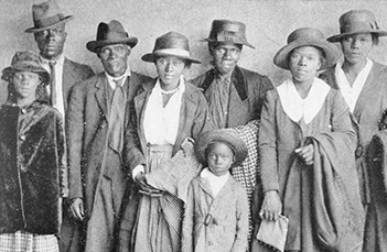 three generations of an African American family, c. 1920.