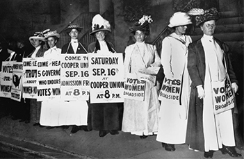 Women march for voting rights