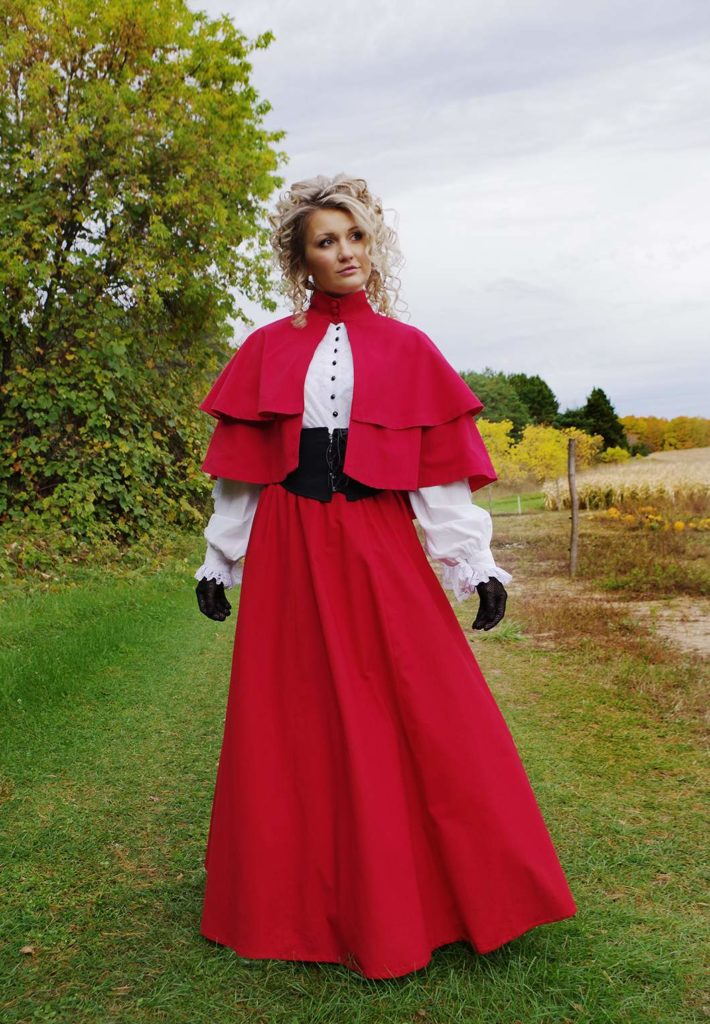 Caroling Double Tiered Cape and Skirt