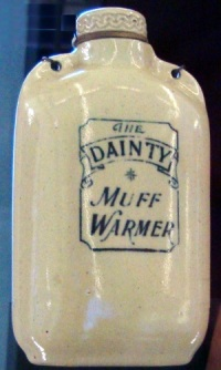 Ceramic hand warmer to stay warm during the Victorian winter.