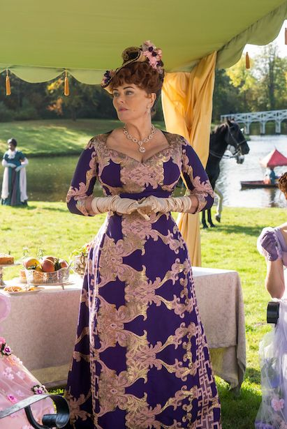 Mrs.Featherington.purple.dress