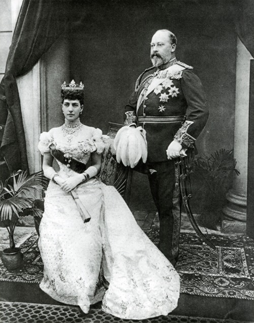 Black and white photograph of King Edward