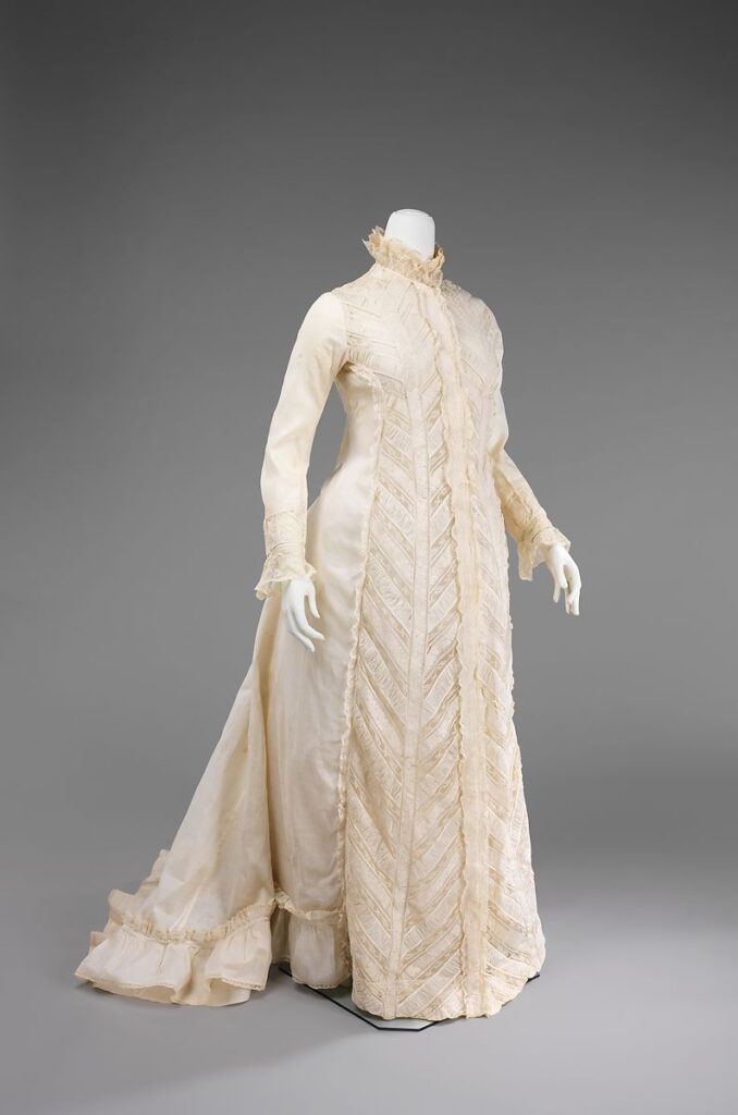 White Victorian dressing gown