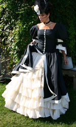 Black and Cream Victorian ball gown